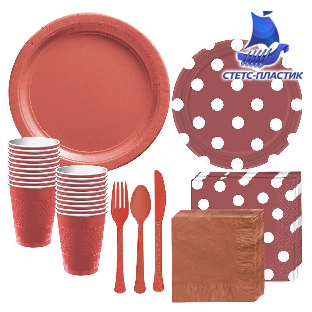 Наборы одноразовой посуды Стетс-пластик